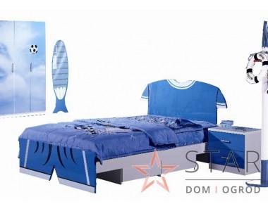 Niebieski Piłkarz - Łóżko