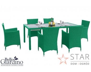 Zestaw mebli stołowych CAPITALE zielony