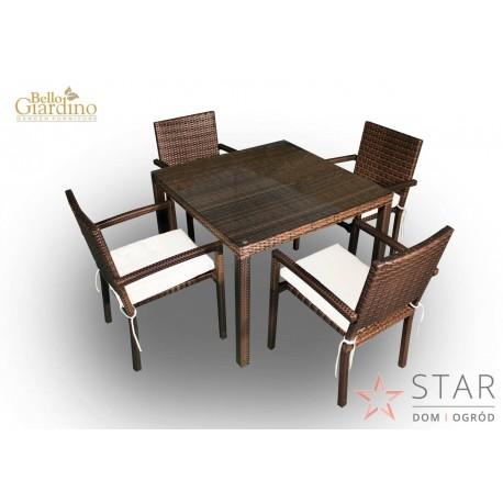 Zestaw mebli stołowych ADORAZIONE ciemny brąz