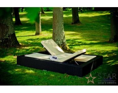 Łóżko ogrodowe UMILE czarne