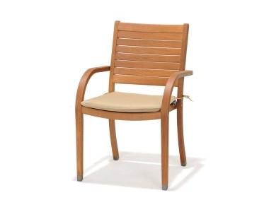 Krzesło z podłokietnikami i poduszką Catalina