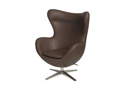 Fotel jajo szeroki skóra ekologiczna 524 brązowy