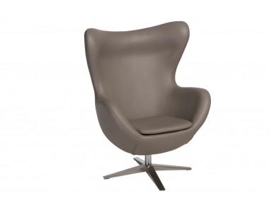 Fotel jajo szeroki skóra ekologiczna 533 khaki