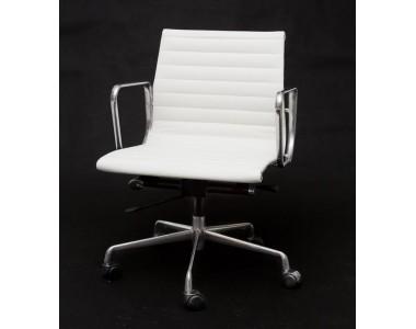 Fotel biurowy CH1171 biała skóra