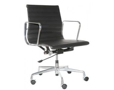 Fotel biurowy CH1171 czarna skóra