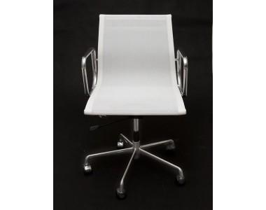Fotel biurowy CH1171T biała siateczka + chrom