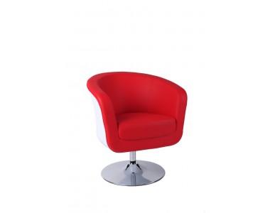 Fotel Magnum K-biały, S- czerwone