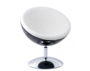 Fotel Mercury czarno - biały