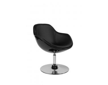 Fotel Pezzo czarno-czarny