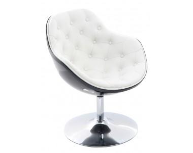 Fotel Pezzo pikowany K- czarny, S- białe