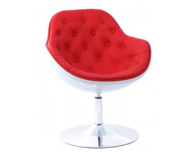 Fotel Pezzo K-biały, S-czerwone