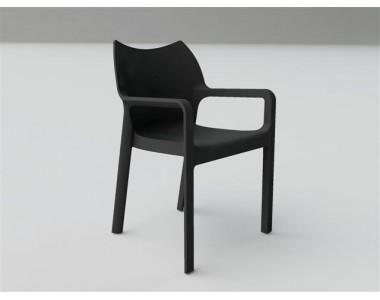Krzesło Dionisio Black Arm chair