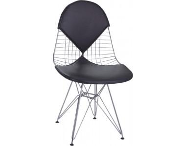 Krzesło Net double czarna poduszka