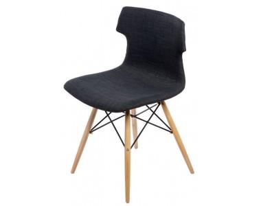 Krzesło Techno DSW tapicerowane grafitowe