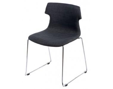 Krzesło Techno SL tapicerowane grafitowe