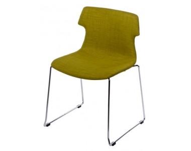 Krzesło Techno SL tapicerowane oliwkowe