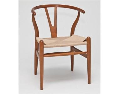 Krzesło Wicker jasnobrązowe