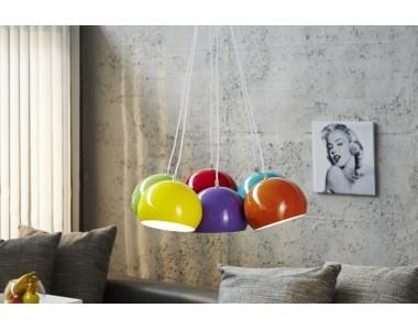 Lampa kolorowe Perły 6 szt. 20 cm śr
