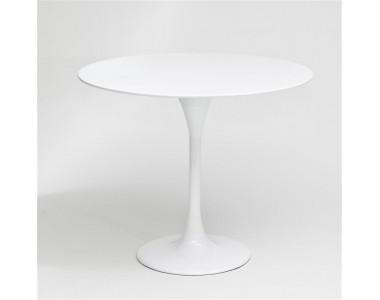 Stolik Fiber o60 biały, włókno szklane